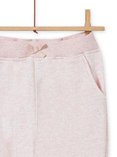 Pantalon de jogging rose chiné enfant fille MAJOBAJOG2 / 21W90111JGBD314