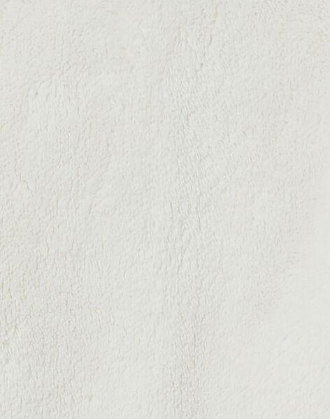 Gilet fausse fourrure blanche réversible bébé fille KIJOCAR1ASUPP / 20WG0951CAR001