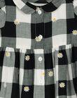Robe manches courtes à carreaux bébé fille FILIROB3 / 19SG0923ROB001