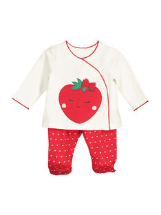 Pyjama en coton bébé fille FEFIPYJFRA / 19SH1391PYJ001