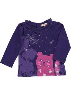 Tee-shirt manches longues bébé fille DIVIOTEE / 18WG09H1TML711