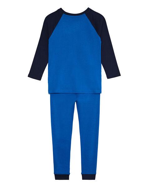 """Pyjama bleu """"espace"""" phosphorescent enfant garçon  JEGOPYJESPA / 20SH12C4PYJC238"""