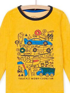 Ensemble pyjama bicolore motifs véhicules enfant garçon MEGOPYJVOI / 21WH1298PYJ113