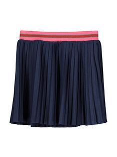 Jupe plissée en coton fille FACOJUP3 / 19S90183JUP070