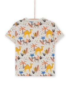 Tee Shirt Manches Courtes Ecru chiné LOTERTI1 / 21S902V4TMC006
