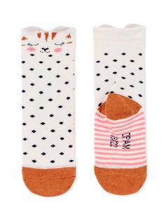 Paire de chaussettes layette fille KYISACHO / 20WI09O1SOQD322