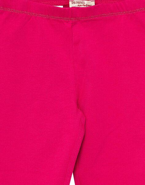 Legging uni rose fuchsia enfant fille JYAJOSLEG1 / 20SI0152D26F507