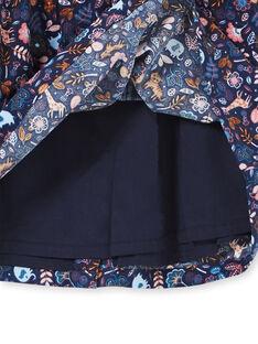 Robe marine à motif bébé fille KISAROB1 / 20WG09O1ROB070