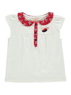 Tee-shirt manches courtes bébé fille CIDEPOLO / 18SG09F1BRA001