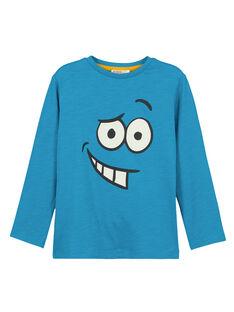 Tshirt Manches Longues col Rond Turquoise GOJOTISLU1 / 19W9024AD32C200