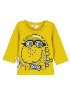 Tee-shirt manches longues fantaisie bébé garçon  GUJAUTEE1 / 19WG10H2TMLB114