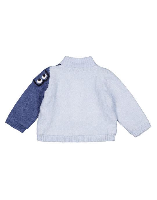 gilet jersey knit eau bébé garçon GUBLAGIL1 / 19WG10S1GIL213