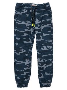 Pantalon garçon imprimé camouflage resserré à la cheville JOCLOJEAN / 20S90211JEAP274