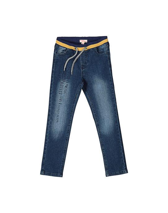 Jean taille élastiquée garçon FOLIJEAN / 19S90221JEA704