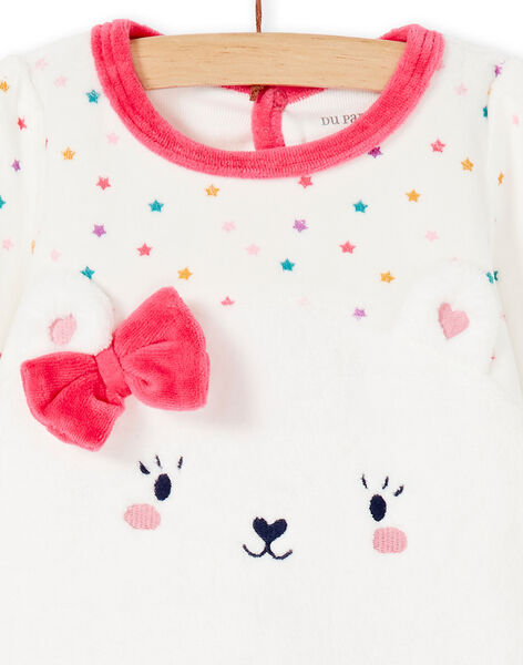 Grenouillère layette fille motif ours KEFIGRECAL / 20WH13C1GRE001