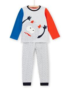 Pyjama enfant garçon en molleton gratté motif monstre LEGOPYJMON / 21SH1212PYJJ920