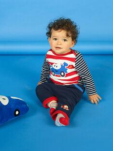 Pantalon bleu nuit motif voiture bébé garçon LUHAPAN1 / 21SG10X1PAN713