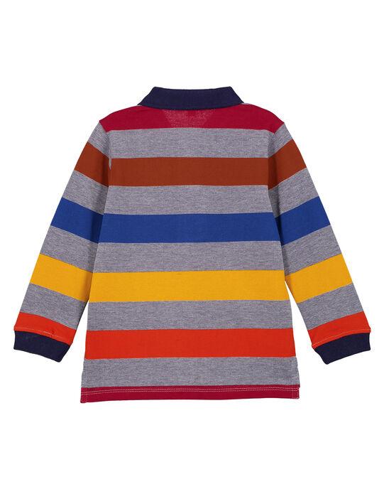 Polo Manches Longues en Piqué Rayé Multicolore GOSANPOL / 19W902C1POL070