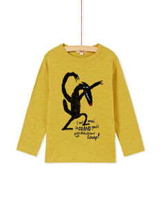Tee shirt manches longues vert garcon KOBOTEE1 / 20W902N1TML633