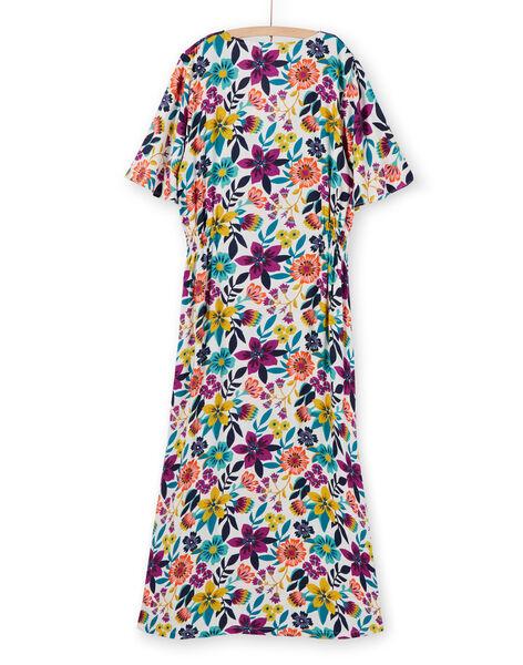 Robe longue manches courtes imprimé fleuri femme LAMUMROB1 / 21S993Z1ROB009