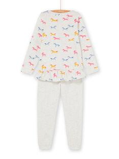 Pyjama Ecru chiné LEFAPYJUNI / 21SH115APYJ006