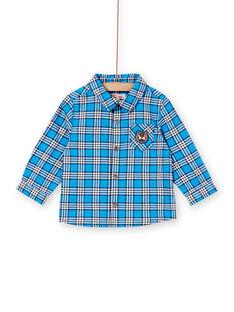 Chemise bleue à manches longues bébé garçon KUSACHEM / 20WG10O1CHMC201