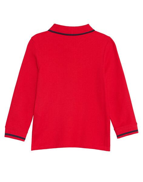 Polo rouge manches longues garçon KOJOPOL4 / 20W90251D2DF518