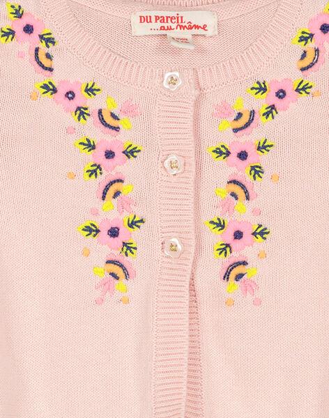 Gilet en coton bébé fille FIPOCAR2 / 19SG09C2CAR307