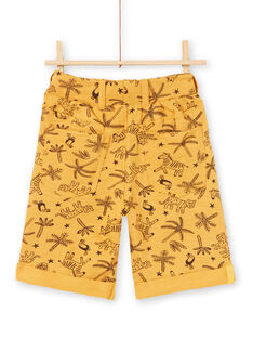 Bermuda jaune moutarde enfant garçon LOTERBER2 / 21S902V3BERB101