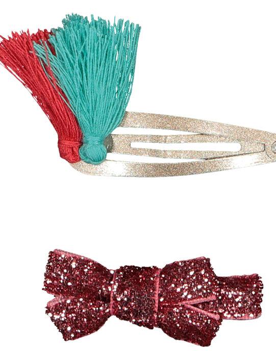 Lot de deux barrettes pinces crocodile et deux barrettes clip GYAVECLIC3 / 19WI0173BRT953