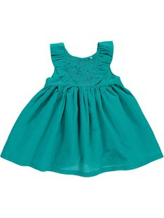Robe manches courtes bébé fille CIFRIROB3 / 18SG09H2ROB202