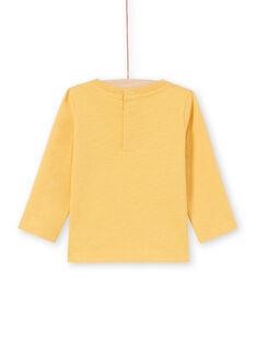 T-shirt jaune motifs animaux colorés bébé garçon MUMIXTEE2 / 21WG10J3TML117