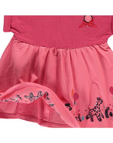 Robe manches courtes bébé fille CIHOROB4 / 18SG09E4ROB404