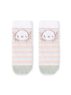 Chaussettes blanches naissance garçon LOU2CHO2 / 21SF41I2SOQ000
