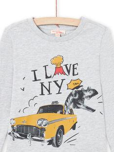 T-shirt gris chiné enfant garçon MOJOTEE2 / 21W90227TMLJ922