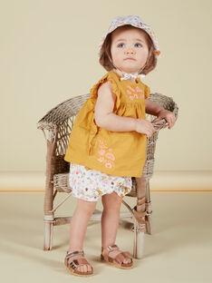 Blouse jaune moutarde bébé fille JIDUCHEM / 20SG09O1CHEB107