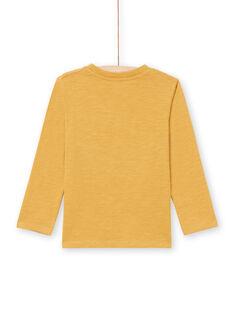 T-shirt manches longues jaune à motif iguane enfant garçon MOTUTEE2 / 21W902K3TMLB101