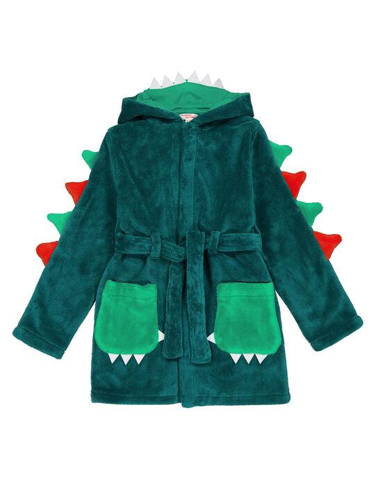 Robe de chambre dragon vert en soft boa enfant garçon GEGOROBDRA / 19WH12N1RDCG614