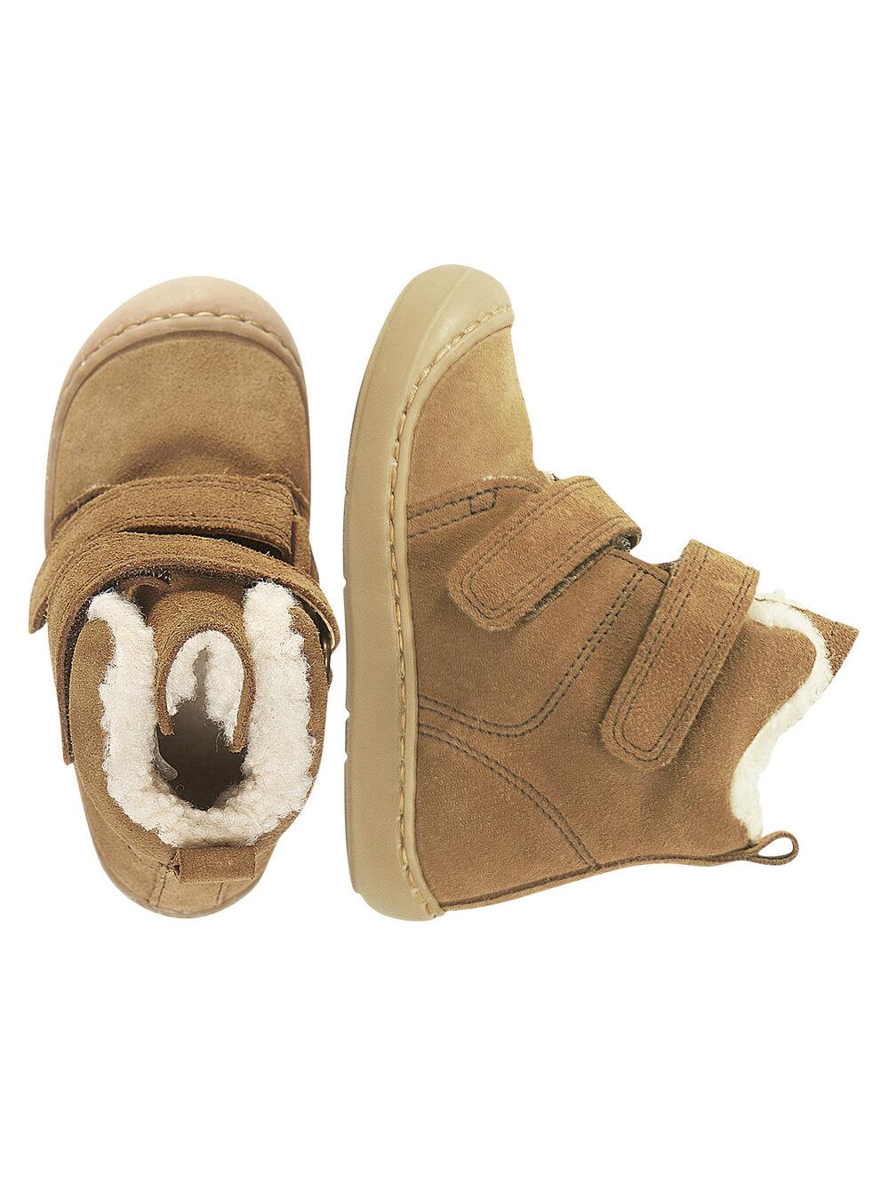 de cuir bébé Boots flexible croûte garçon marron ikuPZX