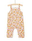 Salopette longue à fleurs jaune bébé fille KIRECOMB / 20WG09G1CBL001