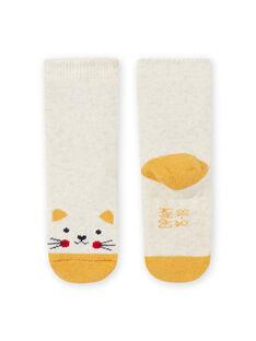 Chaussettes beige chiné motif chat bébé fille MYIJOSOQB2 / 21WI0916SOQA011