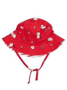 Bob bébé fille rouge avec motif chat JYIGRACHA / 20SI09E1CHA050