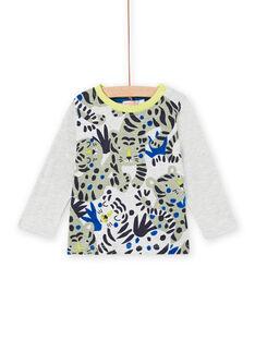 T-shirt manches longues imprimé tigres bébé garçon MUKATEE1 / 21WG10I2TML006