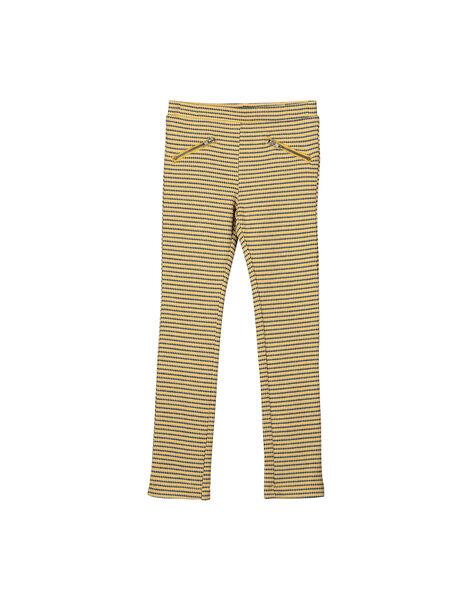 Pantalon milano jacquard fille FALIPANT / 19S90121PAN099