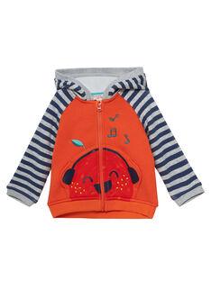 Gilet à capuche tout doux à l'intérieur bébé garçon JUVIGIL / 20SG10D1GILE400