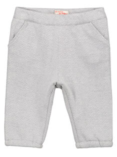 Pantalon jacquard gris bébé garçon GUBLAPAN2 / 19WG10S2PAN001