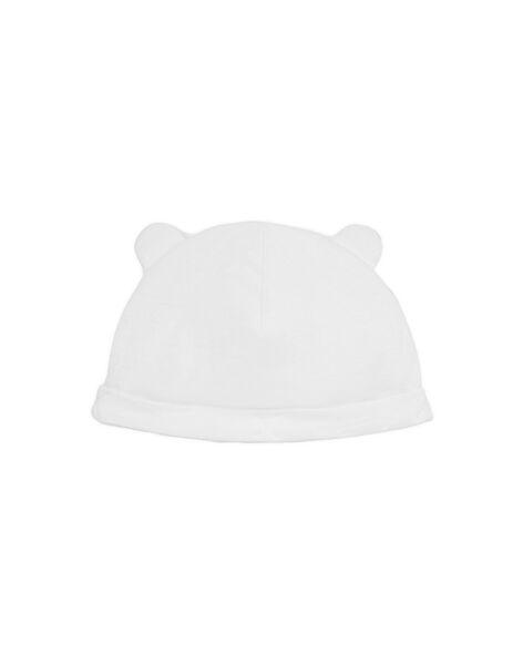 Bonnet naissance blanc à oreilles LOU1BON1 / 21SF42H1BNA000