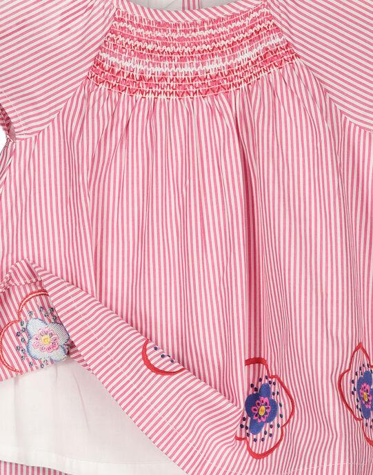 Robe rayée bébé fille FICOROB1 / 19SG0981ROB030