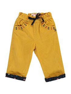 Pantalon en velours bébé fille DINAUPAN / 18WG09G1PANB105