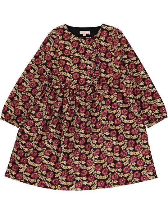 Robe imprimé fleuri fille DACHOROB4B / 18W901F5ROB099